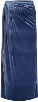 Basler Velvet Maxi Skirt