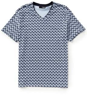Murano Slim-Fit Printed Short-Sleeve V-Neck Tee
