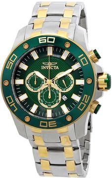Invicta Pro Diver Chronograph Green Dial Men's Watch