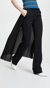 ADAM by Adam Lippes Tuxedo Pants with Pleated Skirt