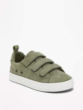 Old Navy Sueded Secure-Strap Sneakers for Toddler Boys
