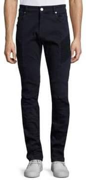 Pierre Balmain Slim-Fit Moto Jeans