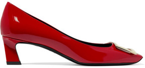Roger Vivier Trompette Embellished Patent-leather Pumps - Red