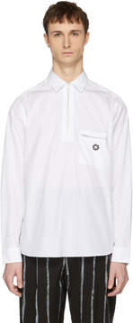 Oamc White L-Zip Shirt