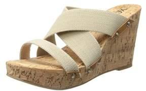 XOXO Women's Belicia Wedge Sandal.