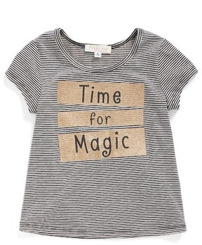 Truly Me Time For Magic Stripe Tee (Baby Girls)