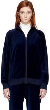 Blue Blue Japan Indigo Velour Sports Jacket