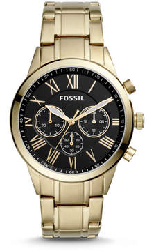 Fossil Flynn Midsize Chronograph Gold-Tone Stainless Steel Watch