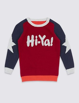 Marks and Spencer Pure Cotton Long Sleeve Jumper (3 Months - 5 Years)