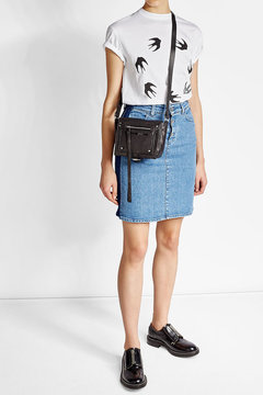 McQ Alexander McQueen Leather Crossbody Bag