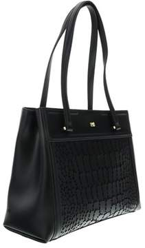 Roberto Cavalli Crocodilia 006 Black Shopping Bag.