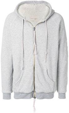 Greg Lauren ripped zipped hoodie