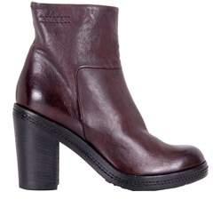 Pantanetti Women's Burgundy Leather Ankle Boots.