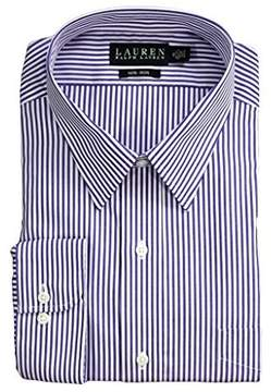 Lauren Ralph Lauren Men's Bengal Stripe Spread Collar Classic Button Down Shirt Blue/White Button-up Shirt
