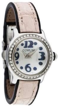 Corum Bubble Mini Diamond Watch W/ Alligator Strap