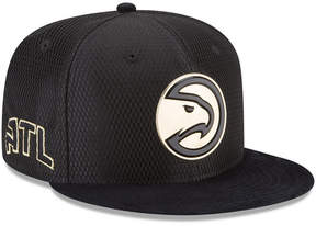 New Era Atlanta Hawks On-Court Black Gold Collection 9FIFTY Snapback Cap