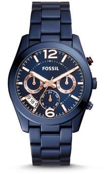 Fossil Perfect Boyfriend Multifunction Blue Stainless Steel Watch