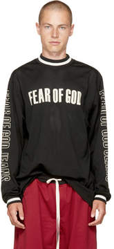 Fear Of God Black Long Sleeve Mesh Motocross T-Shirt