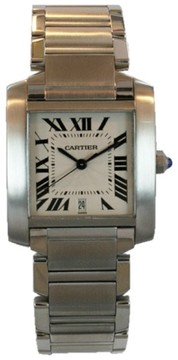 Cartier Tank Francaise Stainless Steel Automatic With Date 32mm Mens Watch