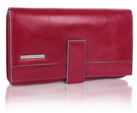Piquadro Women's Red Leather Wallet.