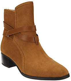 C. Wonder As Is Suede Ankle Boots w/ Strap Details - Taylor