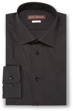 Hickey Freeman Men's Solid Classic Fit Cotton Dress Shirt