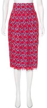 Stella Jean Gingham Pencil Skirt