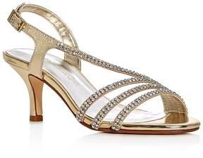 Caparros Bethany Metallic Embellished Mid Heel Sandals