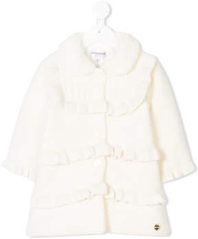 Simonetta flared ruffled coat