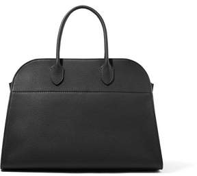 The Row Margaux 15 Buckled Textured-leather Tote - Black