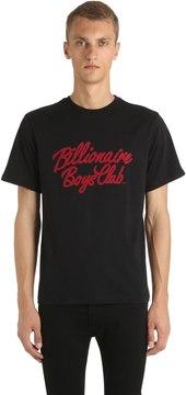 Billionaire Boys Club Flocked Logo Cotton Jersey T-Shirt