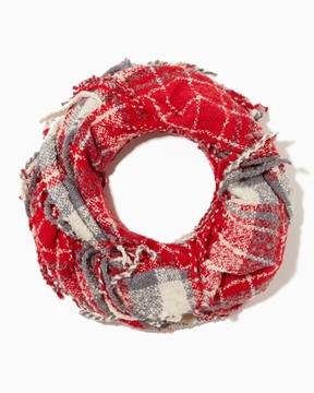 Charming charlie Plaid Boucle Infinity Scarf