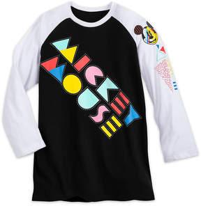 Disney Mickey Mouse '80s Flashback Baseball T-Shirt - Adults