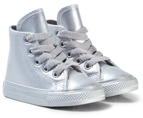 Converse Silver Infants Chuck Taylor All Star Hi-Tops