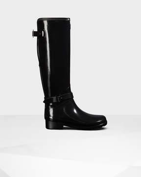 Hunter Women's Original Refined Adjustable Tall Gloss Rain Boots