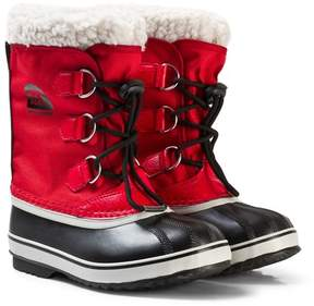 Sorel Rocket Red Yoot Pac Nylon Nocturnal Boots