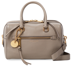 Marc Jacobs Recruit Bauletto Leather Satchel - TAN - STYLE