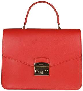Furla Handbag Metropolis M Bag In Textured Leather With Removable Handle And Shoulder Strap