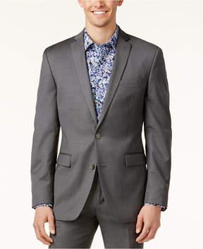 Bar III Mid-Grey Pindot Slim-Fit Jacket