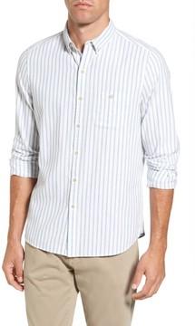 Michael Bastian Men's Trim Fit Vertical Stripe Sport Shirt