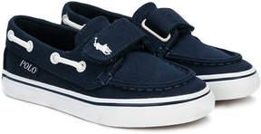 Ralph Lauren touch strap deck shoes