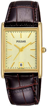 Pulsar Mens Black Strap Watch-Pg8252