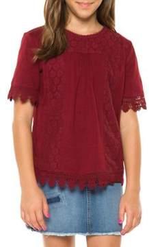 Dex Girl's Crochet Top