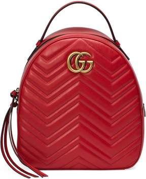 Gucci GG Marmont quilted leather backpack - HIBISCUS RED LEATHER - STYLE