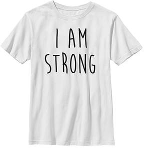 Fifth Sun White 'I Am Strong' Crewneck Tee - Youth