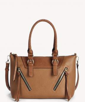 Sole Society Girard zippered satchel with braided tassels