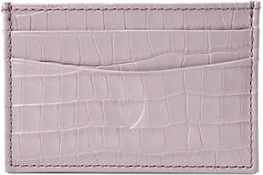 Aspinal of London Leather Slim Credit Card Case, Lilac Croc