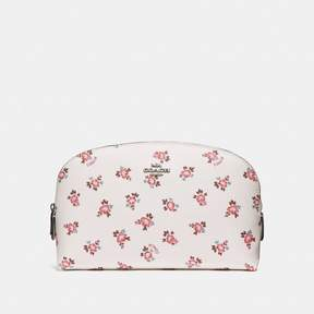 COACH COACH COSMETIC CASE 22 WITH FLORAL BLOOM PRINT - CHALK FLORAL BLOOM/SILVER