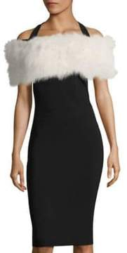 Alberto Makali Fox Fur Knit Shrug