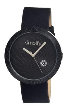 Simplify The 1800 Black IP Stainless Steel Case Unisex Watch